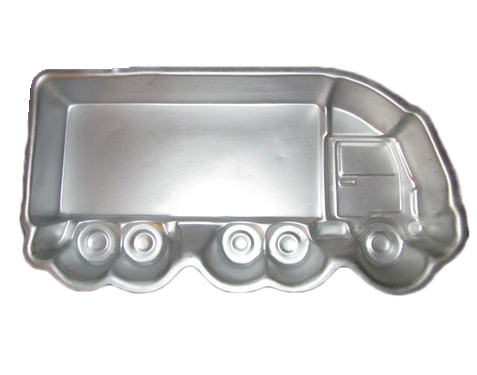 semi truck cake pan