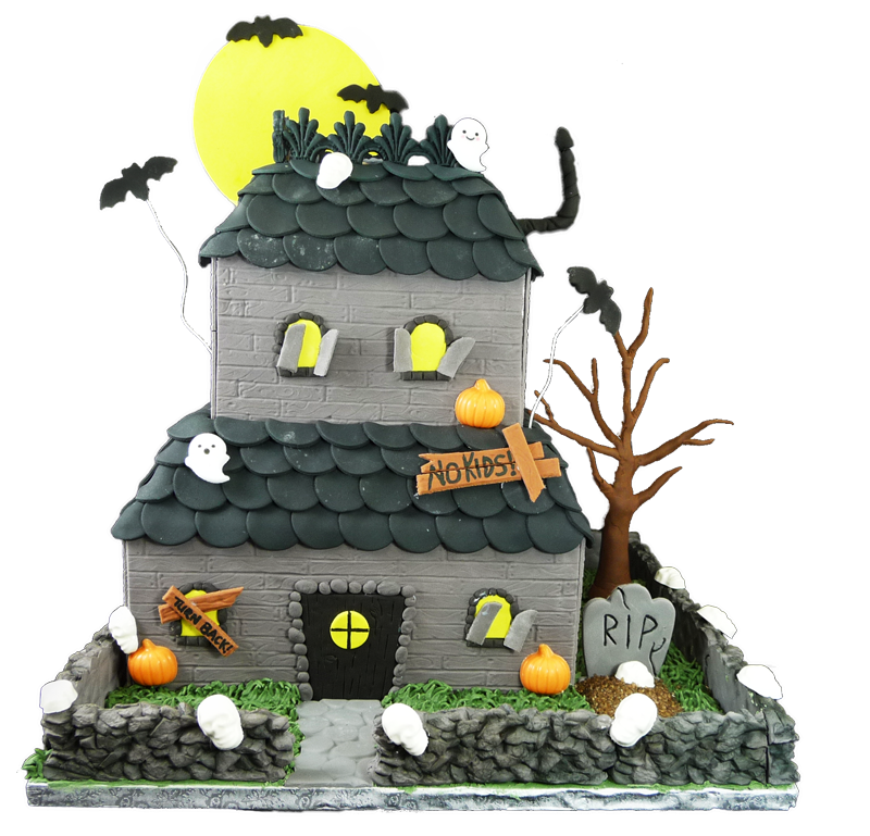 Admirable Halloween Haunted House Cake Scoop N Save Personalised Birthday Cards Epsylily Jamesorg
