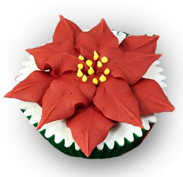 poinsettia cupcake