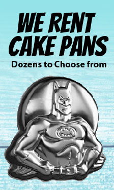 we rent cake pans, shape pan, novelty pans